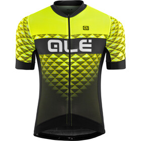 Alé Cycling PRS Hexa SS Jersey Herren black-yellow flou